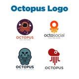 Poulpe Logo Template Photographie stock libre de droits