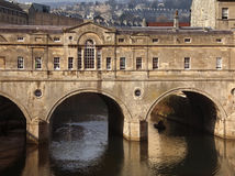 Poultney Bridge - City of Bath - England Royalty Free Stock Photography