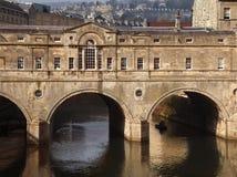 Poultney Most Anglia - Miasto Skąpanie - Fotografia Royalty Free