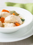 Poultry blanquette, white meat stew Royalty Free Stock Photos
