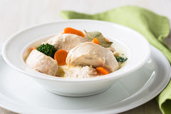 Poultry blanquette, white meat stew Stock Photos