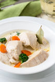 Poultry blanquette, white meat stew Royalty Free Stock Photography