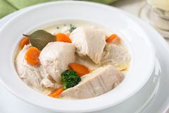 Poultry blanquette, white meat stew Stock Photo