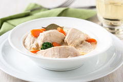 Poultry blanquette, white meat stew Royalty Free Stock Photo