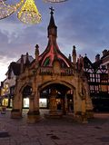 Poultry Cross Salisbury. At Christmas taken at Night Stock Image