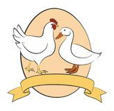 Poultry farm Logo. A poultry farm logo with chicken, duck and egg Royalty Free Stock Photography