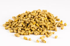 Poultry feed expanded pelleted animal domestic feed Stock Photo