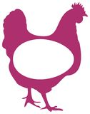 Poultry logo. Isolated line art work of Poultry logo Royalty Free Stock Photo