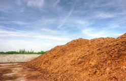 Poultry manure Royalty Free Stock Image