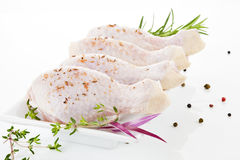 Poultry meat. Chicken legs. Royalty Free Stock Photos
