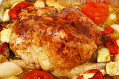 Poultry: Roast Chicken Royalty Free Stock Photos