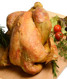 Poultry: Rustic roast chicken with rosemary Stock Photos