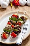 Poultry skewers. Still life of poultry skewers Royalty Free Stock Photo