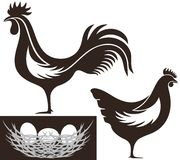 Poultry. Vector illustration (EPS 10 Royalty Free Stock Photography