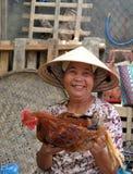 Poultry Vendor, Hoi An, Vietnam. Hoi An, Vietnam, 17 April 2009 Royalty Free Stock Photo