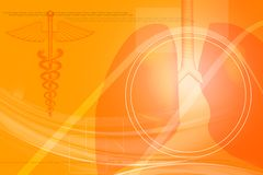 poumons humains avec le symbole médical Images stock
