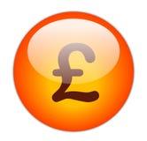 Pound. The Glassy Red Pound Icon Button royalty free illustration