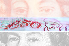 Pound. Grid of pound bank notes Stock Photo