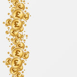 Pound background. Pound golden coins in white background Stock Photography
