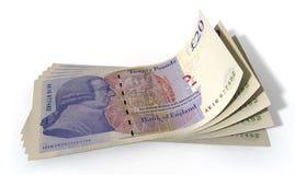 Pound Bank Notes Spread Stock Photo