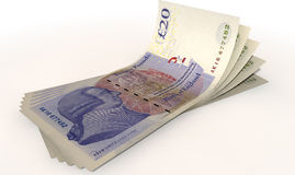 Pound Bank Notes Spread Royalty Free Stock Images