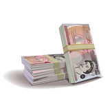 Pound banknotes  illustration, financial the Stock Photos