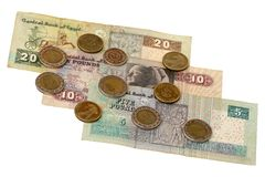 Pound bill of Egypt Stock Image