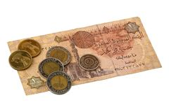 Pound bill of Egypt Stock Photography