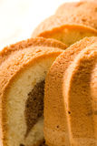 Pound Cake. Close up picture of pound cake Stock Photography