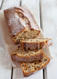 Pound cake. With nuts and raisins royalty free stock images