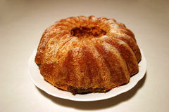 Pound cake. Zoom on a cake royalty free stock photos