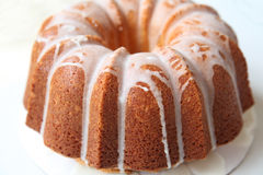 Pound Cake. A pound cake against a white background royalty free stock photos