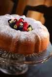 Pound Cake with Berries - clipping path Royalty Free Stock Photos