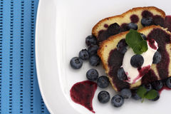 Pound Cake with Blueberries Royalty Free Stock Photos
