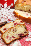 Pound cake with cranberries Royalty Free Stock Photo