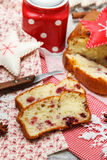 Pound cake with cranberries Royalty Free Stock Photography