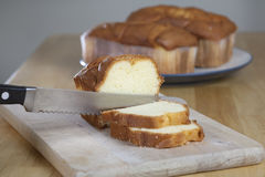 Pound Cake on Cutting Board Royalty Free Stock Photo