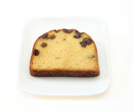 Pound cake on a dsih Royalty Free Stock Image