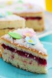 Pound cake with flowers Stock Photo