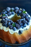Pound Cake with forest fruits Stock Photo