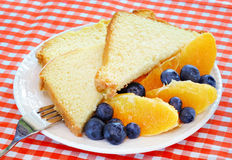 Pound Cake with Fruit Stock Images