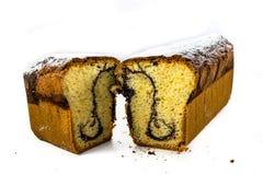 Pound cake. Isolated on a white background Royalty Free Stock Image