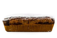 Pound cake. Isolated on a white background Royalty Free Stock Photos