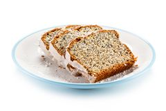 Pound cake on white background stock images