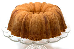 Pound Cake Isolated on White Stock Images