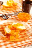 Pound Cake and Kumquat Marmalade Royalty Free Stock Image