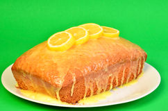 Pound Cake with Lemon Sauce Stock Photos