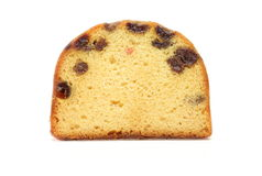 Pound cake. Pictured a slice of pound cake in a white background royalty free stock images