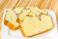 Pound Cake Slices Royalty Free Stock Photography