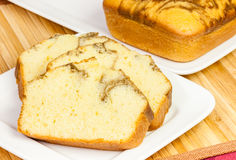 Pound Cake Slices Stock Photography